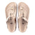 Birkenstock Gizeh (Women) - Vintage Metallic Rose Copper Leather Sandals|Thong Sandals - The Heel Shoe Fitters
