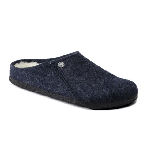 Birkenstock Zermatt Shearling (Men) - Dark Blue/Natural