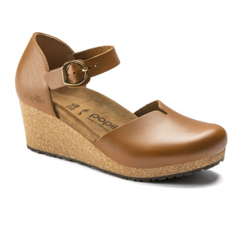 Birkenstock Mary (Women) - Ginger Brown Leather Sandals|Wedge Sandals - The Heel Shoe Fitters