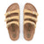 Birkenstock Florida Fresh Vegan (Women)(N) - Latte Cream Sandals|Slide Sandals - The Heel Shoe Fitters