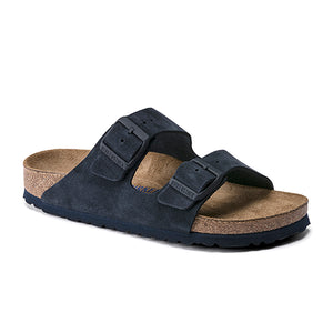 Birkenstock Arizona Soft Footbed (Women) - Night Suede Sandals - Slide Sandals - The Heel Shoe Fitters