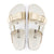 Birkenstock Arizona Split Birko-Flor (Women) - White/Gold Sandals|Slide Sandals - The Heel Shoe Fitters
