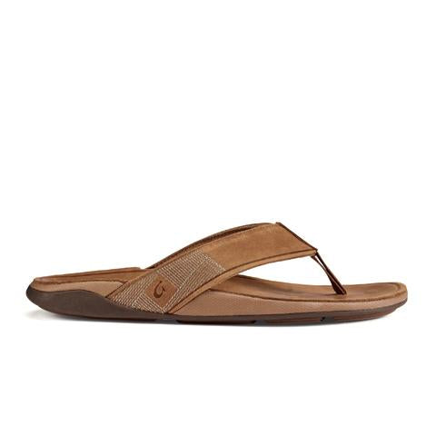 Olukai Tuahine (Men) - Toffee/Toffee Sandals|Thong Sandals - The Heel Shoe Fitters