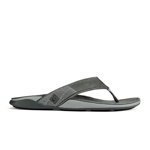 Olukai Tuahine (Men) - Stone/Stone Sandals - Thong Sandals - The Heel Shoe Fitters