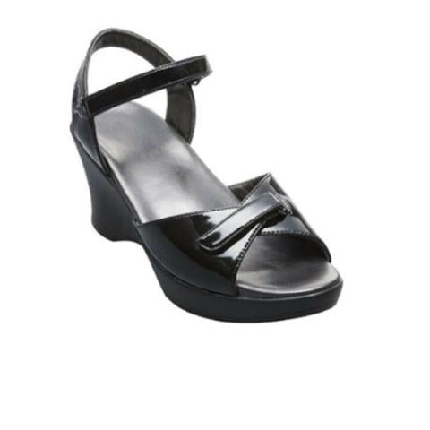 Akaishi Hoshi Black Sandals - Wedge Sandals - The Heel Shoe Fitters