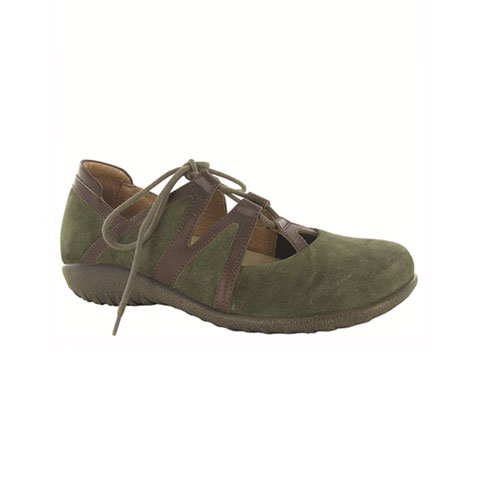 Naot Timu (Women) - Oily Olive Suede/Toffee Brown