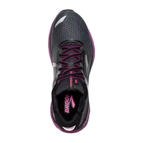 Brooks Adrenaline GTS 20 (Women) - Ebony/Black/Hollyhock Athletic|Running|Cushion - The Heel Shoe Fitters