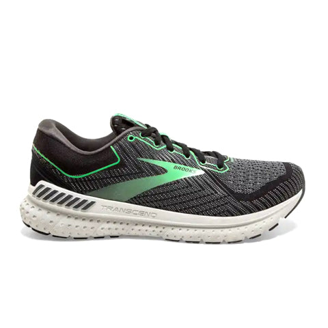Brooks Transcend 7 (Women) - Black/Ebony/Green Athletic|Running|Cushion - The Heel Shoe Fitters