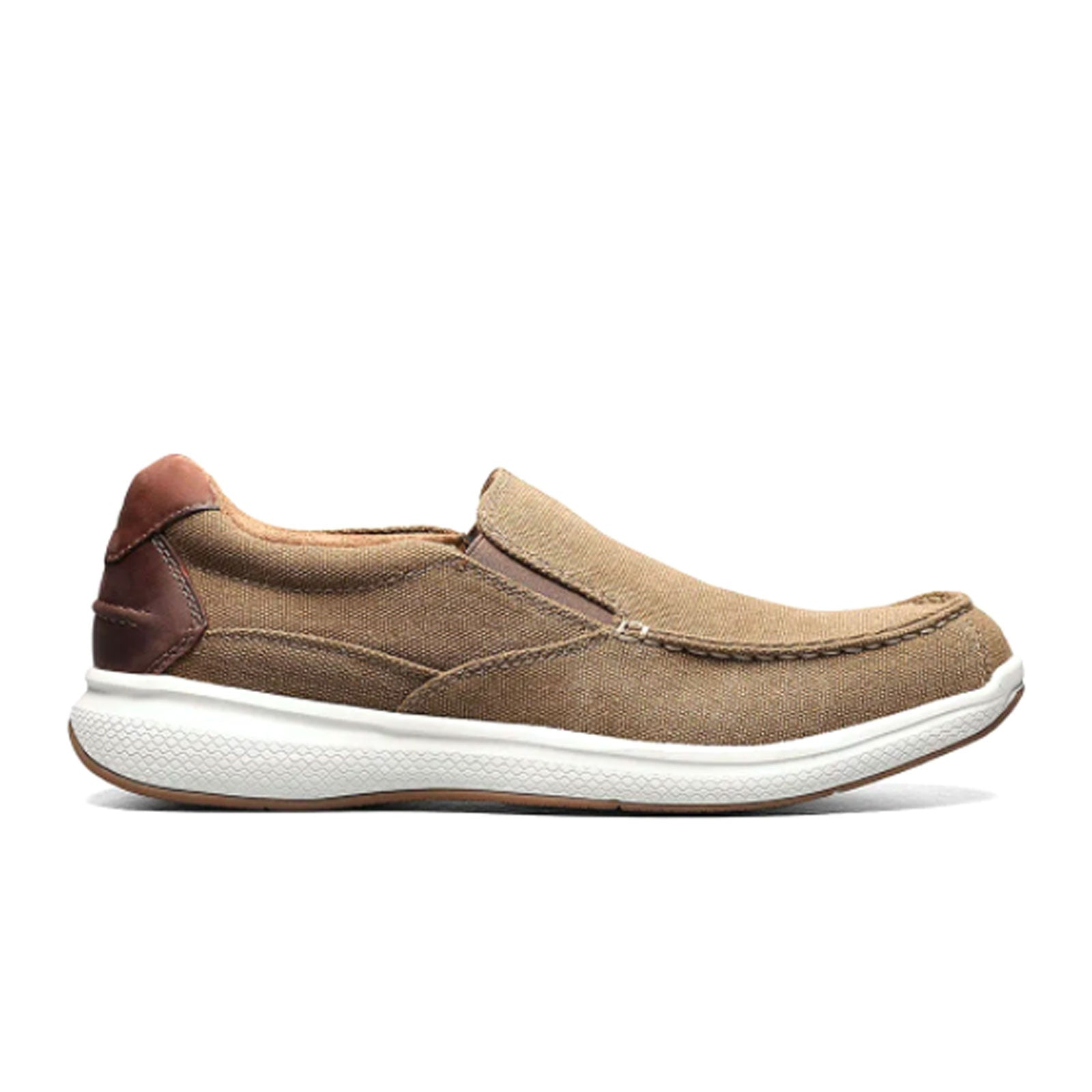 Florsheim Great Lakes Canvas Moc Toe (Men) - Sand Dress/Casual|Slip Ons - The Heel Shoe Fitters