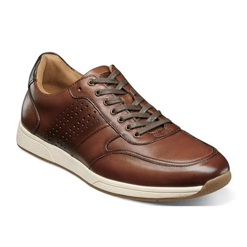 Florsheim Fusion Sport (Men) - Cognac Smooth Dress/Casual|Lace Ups - The Heel Shoe Fitters
