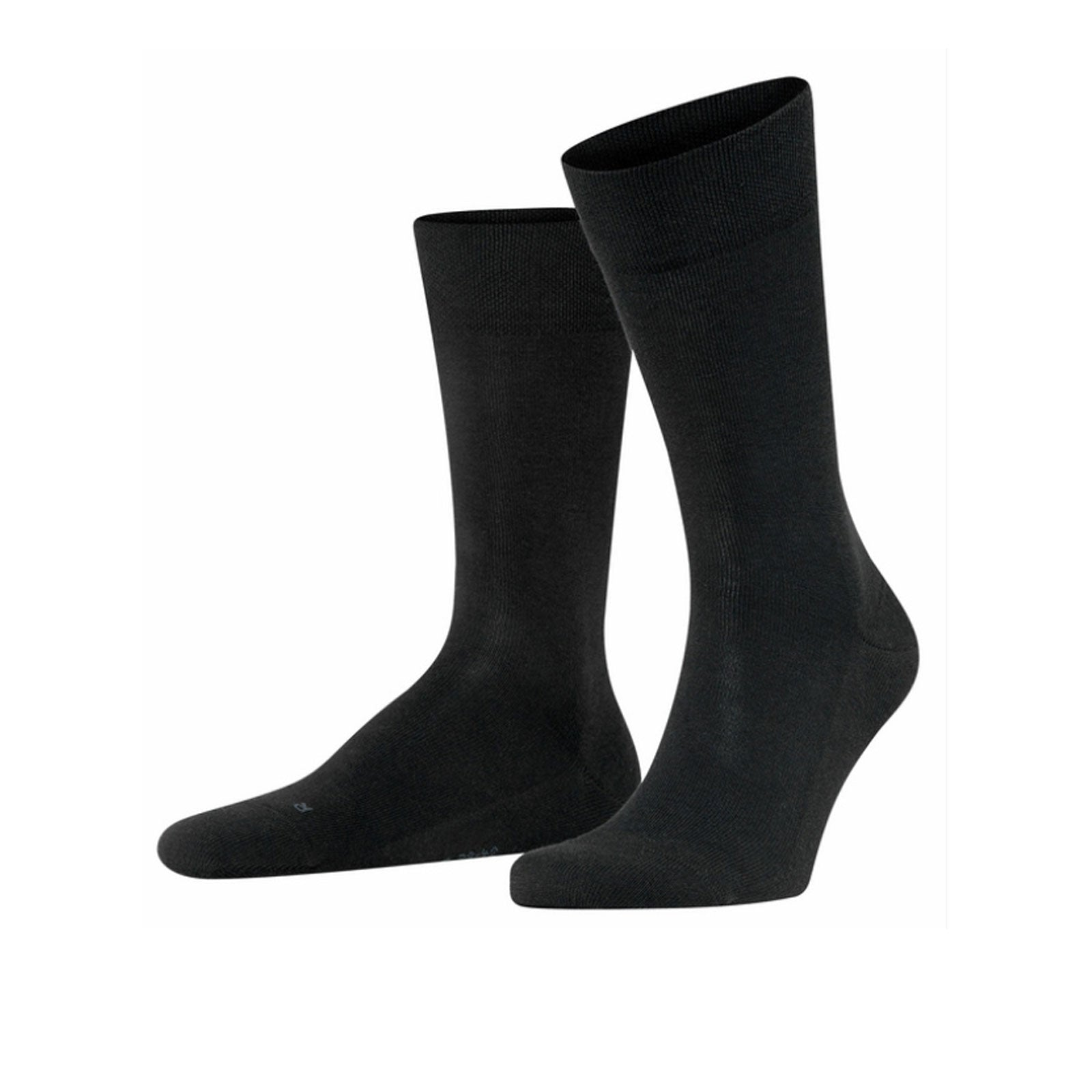 Falke Sensitive London (Men) - Black Socks|Life - Crew - The Heel Shoe Fitters