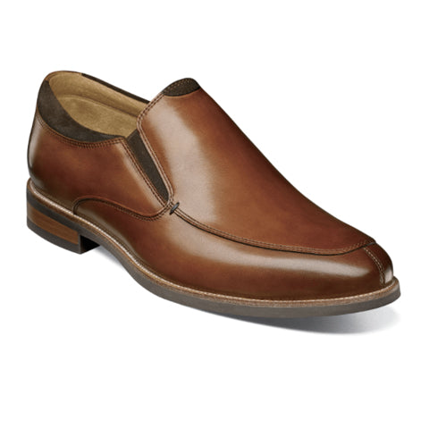 Florsheim Uptown Moc Slip On (Men) - Cognac Leather Dress/Casual|Slip Ons - The Heel Shoe Fitters