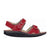 Finn Comfort Yuma (Women) - Red Street Sandals|Backstrap Sandals - The Heel Shoe Fitters