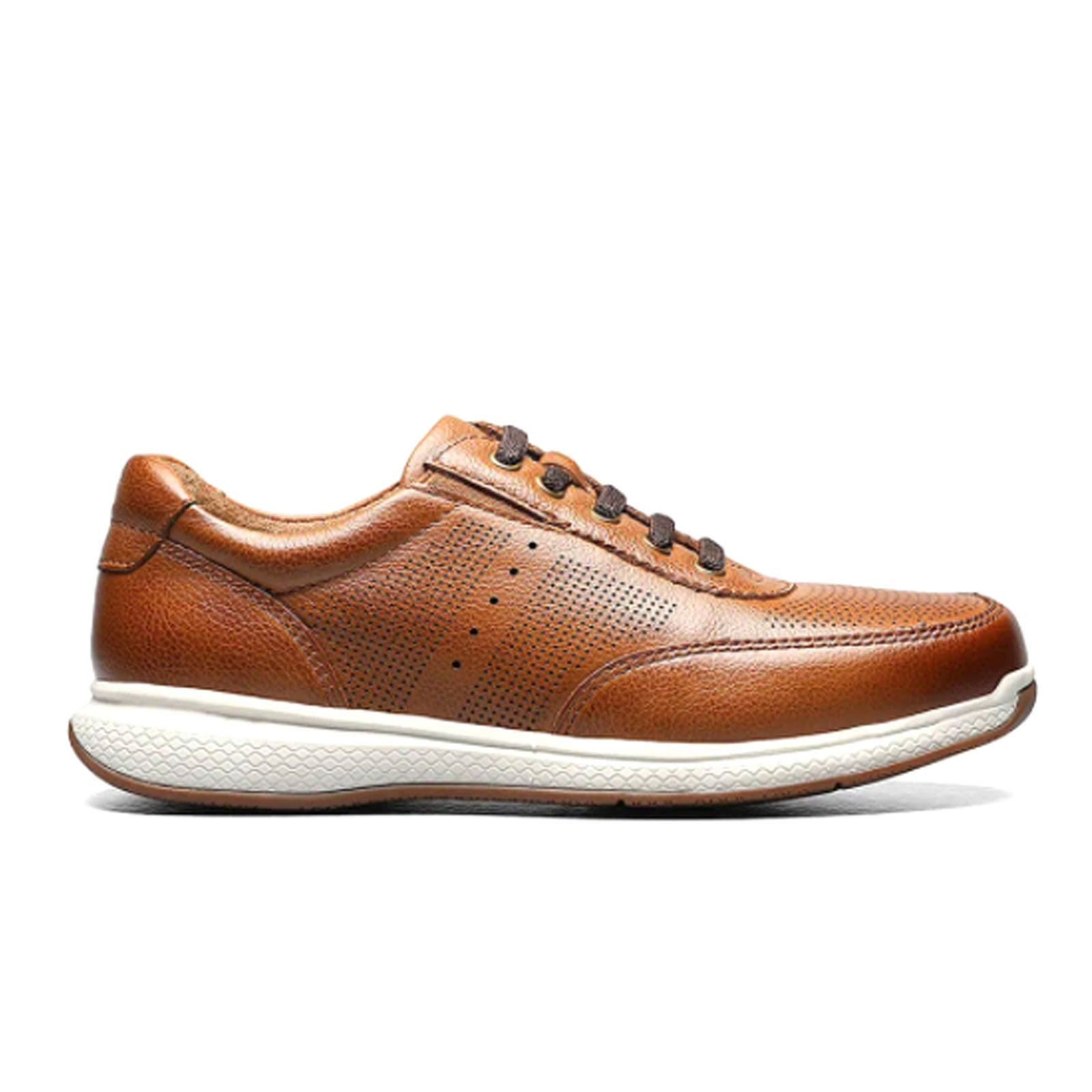 Florsheim Great Lakes Sport (Children) - Cognac Milled Leather Dress/Casual|Sneakers - The Heel Shoe Fitters