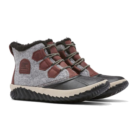 Sorel Out 'N About Plus Quilted Boot (Women) - Redwood Boots|Winter - Ankle Boot - The Heel Shoe Fitters