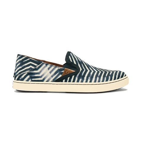 OluKai Pehuea Pa'I - Lava Rock/Off White Dress/Casual|Slip Ons - The Heel Shoe Fitters