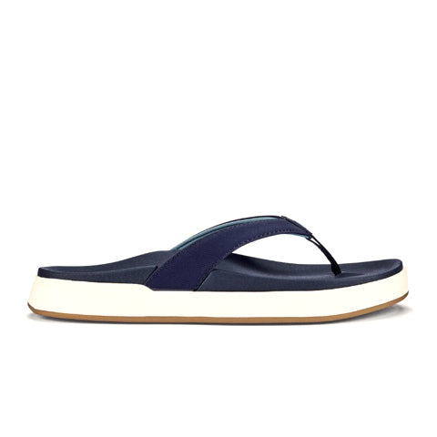 Olukai Nu'A Pi'O (Women) - Trench Blue/Trench Blue Sandals|Thong Sandals - The Heel Shoe Fitters