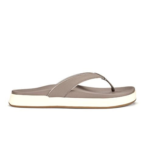 Olukai Nu'A Pi'O (Women) - Warm Taupe/Warm Taupe Sandals|Thong Sandals - The Heel Shoe Fitters