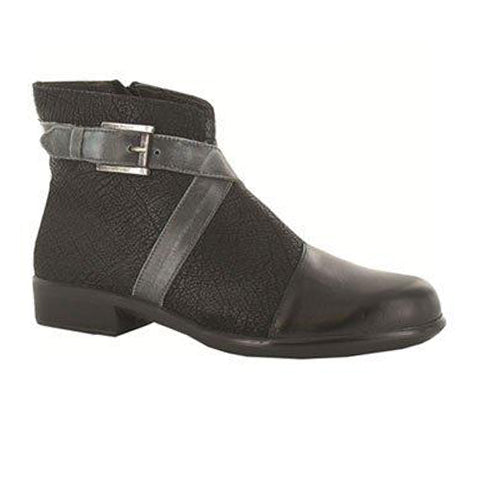 Naot Boreas (Women) - Black Madras/Crackle Leather Boots|Fashion - Ankle Boot - The Heel Shoe Fitters