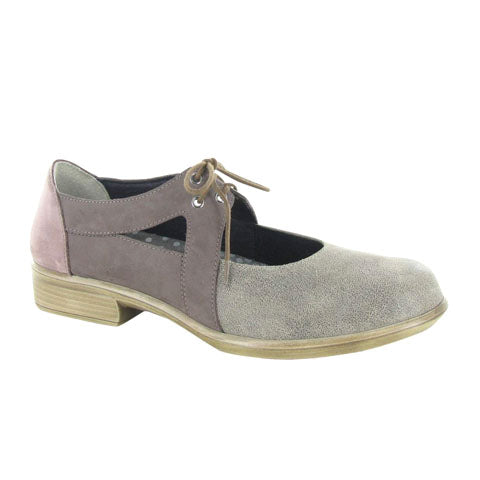 Naot Alisio (Women) - Speckled Beige/Shiitake Nubuck Dress/Casual|Mary Janes - The Heel Shoe Fitters