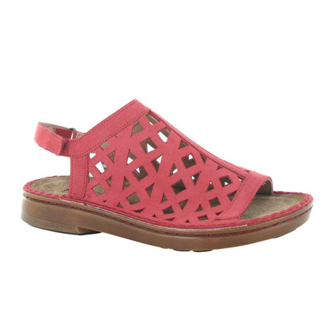 Naot Amadora (Women) - Brick Red Nubuck Sandals|Backstrap Sandals - The Heel Shoe Fitters