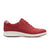 Clarks Un Adorn Lace (Women) - Red Nubuck Suede Dress/Casual|Lace Ups - The Heel Shoe Fitters
