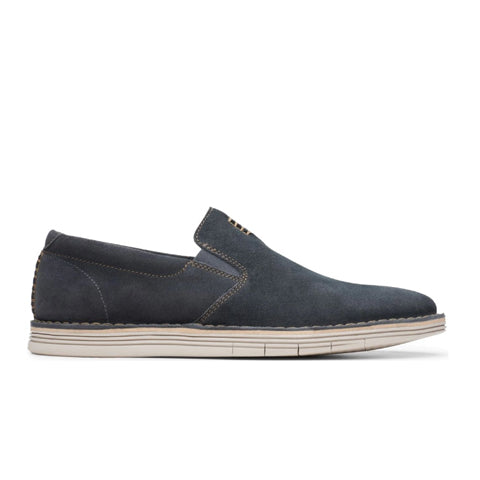 Clarks Forge Free (Men) - Storm Suede Dress/Casual|Slip Ons - The Heel Shoe Fitters