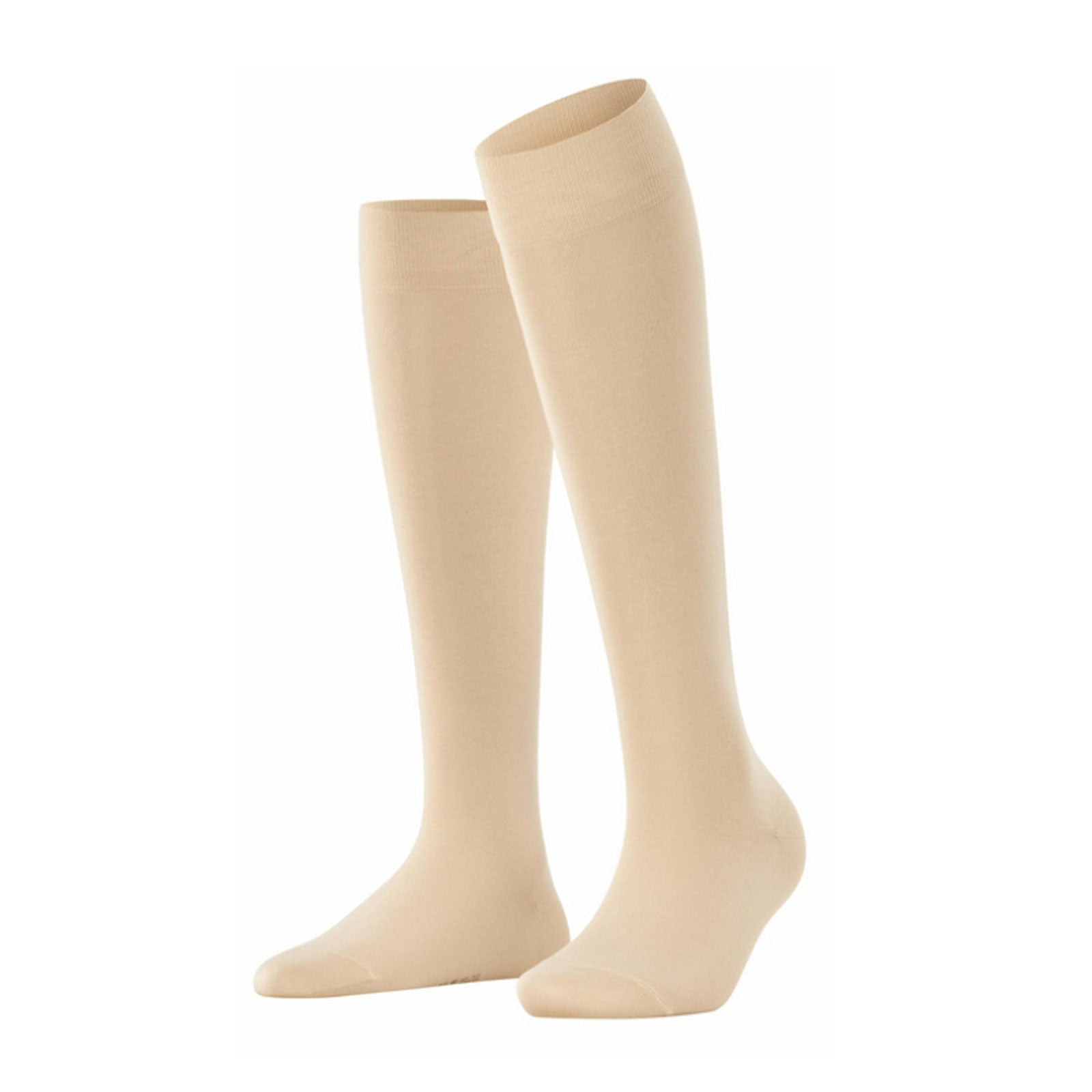Falke Cotton Touch (Women) - Cream Socks|Life - Crew - The Heel Shoe Fitters