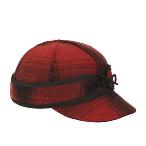 Stormy Kromer Lil' Kromer Cap - Red/Black Outerwear|Headwear|Brimmed Hat - The Heel Shoe Fitters