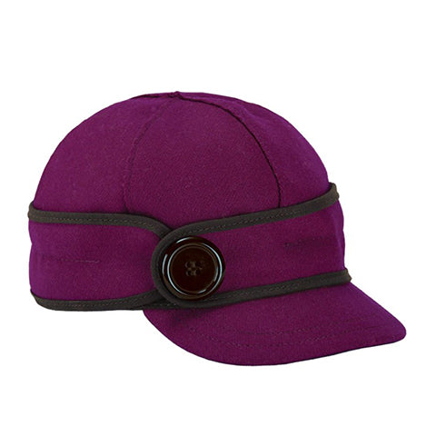 Stormy Kromer Button Up Hat - Raspberry