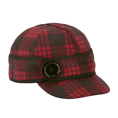 Stormy Kromer The Button Up - Black/Red Tartan Outerwear|Headwear|Brimmed Hat - The Heel Shoe Fitters