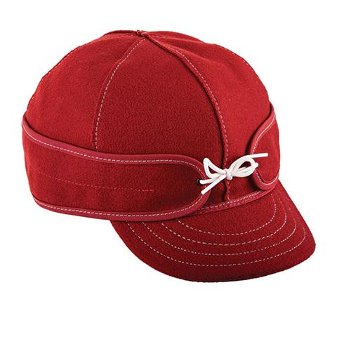 Stormy Kromer Original Benchwarmer Hat - Red/White Outerwear|Headwear|Brimmed Hat - The Heel Shoe Fitters