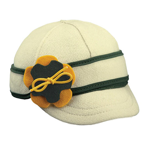 Stormy Kromer Lil' Petal Pusher Benchwarmer - Green/Gold Outerwear|Headwear|Brimmed Hat - The Heel Shoe Fitters