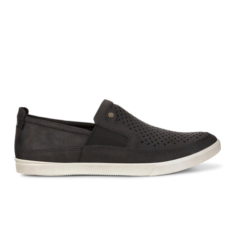 Ecco Collin Perf Slip On (Men) - Black