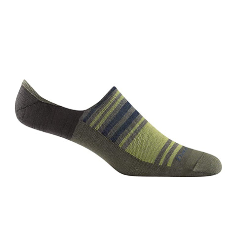 Darn Tough Topless Stripe No Show Hidden Lightweight (Men) - Fatigue Socks - Life - No Show - The Heel Shoe Fitters