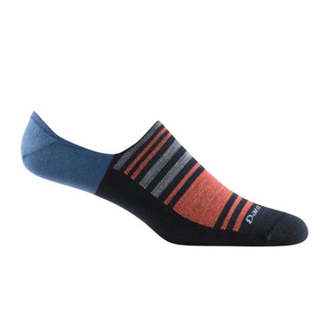 Darn Tough Topless Stripe No Show Hidden Lightweight (Men) - Navy Socks - Life - No Show - The Heel Shoe Fitters