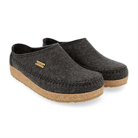 Haflinger Montana (Unisex) - Charcoal Dress/Casual|Clogs & Mules - The Heel Shoe Fitters