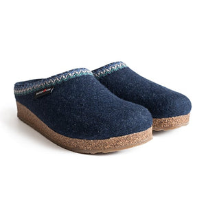 Haflinger Zig Zag (Unisex)- Captain's Blue Dress/Casual|Clogs & Mules - The Heel Shoe Fitters