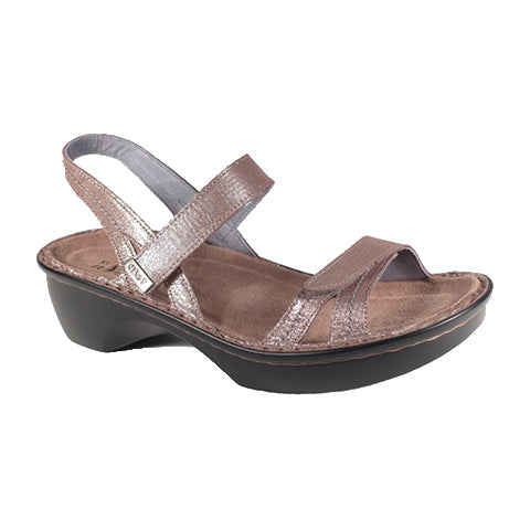 Naot Brussels (Women) Silver Sandals|Heeled Sandals - The Heel Shoe Fitters