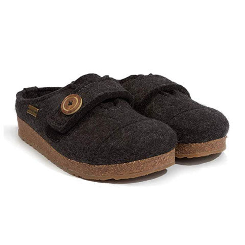 Haflinger Hanna (Women) - Charcoal Dress/Casual|Clogs & Mules - The Heel Shoe Fitters