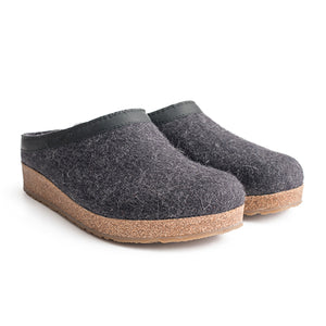 Haflinger GZL 44 (Unisex) - Charcoal Dress/Casual|Clogs & Mules - The Heel Shoe Fitters