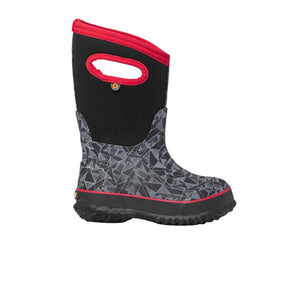 Bogs Classic Maze Geo (Children) - Black Multi Boots|Rain - Mid - The Heel Shoe Fitters