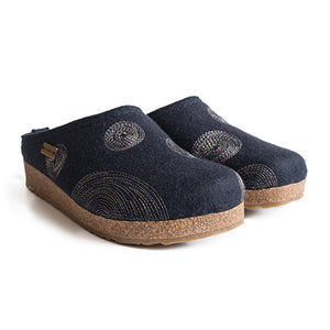Haflinger Spirit - Navy Dress/Casual|Clogs & Mules - The Heel Shoe Fitters