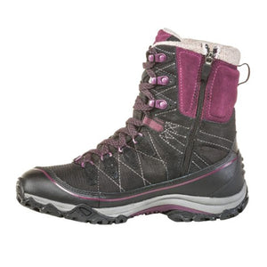 "Oboz Juniper 8"" Insulated B-DRY (Women) - Eclipse Black/Beet Boots