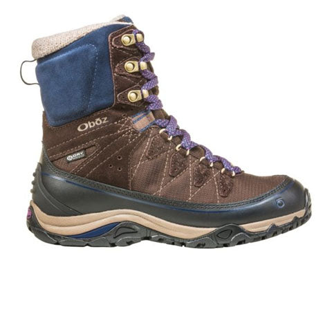 "Oboz Juniper 8"" Insulated B-DRY (Women) - Cocoa/Cobalt Boots