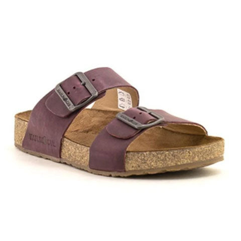 Haflinger Andrea (Unisex) - Bordeaux Sandals|Slide Sandals - The Heel Shoe Fitters