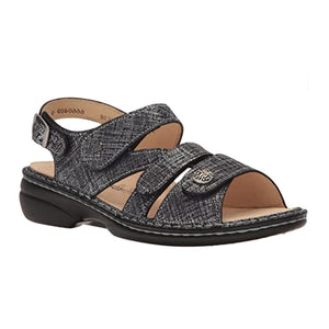 Finn Comfort Gomera-S (Women) - Argento Doyle Sandals|Backstrap Sandals - The Heel Shoe Fitters