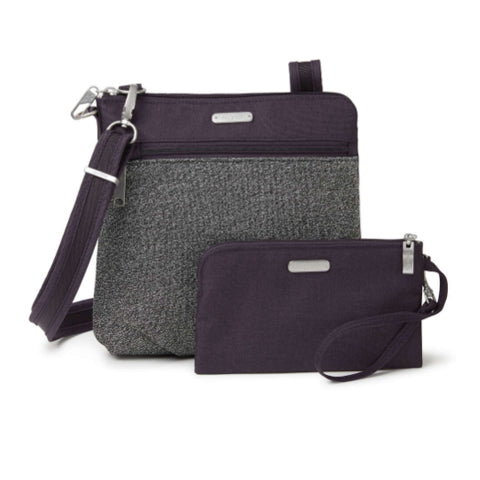 Baggallini Anti-theft Slim Crossbody - Blackberry