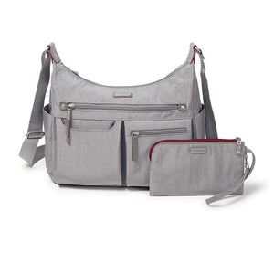 Baggallini Anywhere Large Hobo w/ RFID - Stone