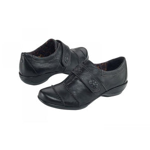Aetrex Corinne Monk Strap (Women) - Black Dress/Casual|Monk Straps - The Heel Shoe Fitters